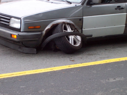wheels fall off